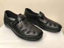 SAS Roamer Mary Jane Black Leather Diabetic Therapeutic Comfort Walking Shoe 8.5