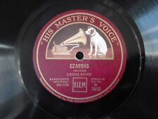 78obrotów Lewis Ruth - Czardas / Nocturne HMV B3652 płyta szelakowa