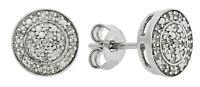 Revere 9ct White Gold 0.10ct  Diamond Cluster Earrings
