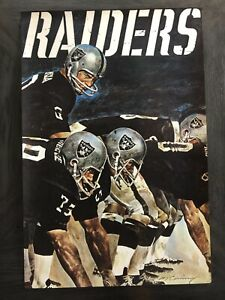 POSTER  NFL Collectors Series 1971 Oakland Raiders  George Blanda Kicker/QB #6