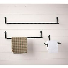 3 Piece Wrought Iron Bathroom set- 2 towel racks -Toilet roll Holder