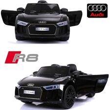 Voiture quad électrique enfant 12 V Audi R8 luxe noir à télécommande parentale