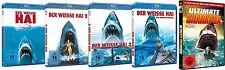 JAWS EL BLANCO TIBURÓN 1 2 3 4 + 12 icónica SHARK HORRORFILME BLU-RAY Colección