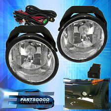 For 2001-2004 Nissan Frontier Fog Lights Clear Lens Black Bezel Bumper Lamp