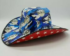 Anheuser Busch Beer Box Cowboy Hat Patriotic 4th of July Country OSFA New Unused