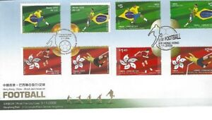 """2009 """"Hong Kong, China - Brazil Joint Issue on Football"""" Stamps FDC"""