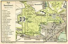MAP ANTIQUE 1898 KIESSLING SANSSOUCI PARK POTSDAM REPLICA POSTER PRINT PAM0386