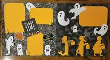 Candy Time Halloween Scrapbook pages