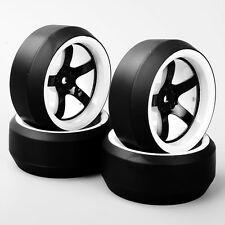 4PCS 1/10 RC Car Speed Drift 3 Degree Tires Tyre & Wheel D5NWK For HPI HSP