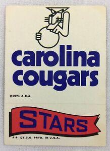 ABA 1973 Topps Basketball Insert - Carolina Cougars - Stars