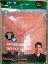 POLO SHIRT +Performance SIZE XL Dry Fit Orange Mountain Expeditions Clothing