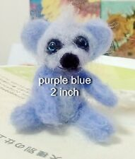 Needle Felted Animal little 1 teddy  bear Wool Art  mini Sculpture ooak gift -p1