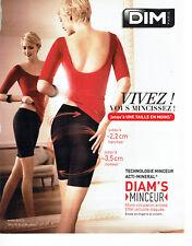 Publicité Advertising 087  2013  Dim sous vetements Diam's minceur