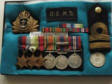 CANADIAN WW2 NAVAL GROUP 6 MEDALS PLUS.  LIEUT   DEFENCE  EQUIPPED  MARINE SHIP