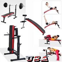 Adjustable Home Fitness Weight/Sit Up Bench Incline Decline Gym Exercise Workout