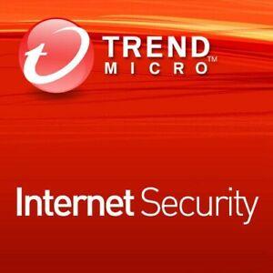 Trend Micro Internet Security 2021 1 ou 3 Appareils 1/2/3 Ans FR