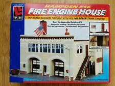 Life-Like HO scale 1390 Hampden #46 Fire Engine House Kit In Box No. 1390