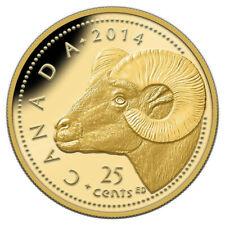 Rocky Mountain Bighorn Sheep - 2014 Canada 25 cent Gold Coin
