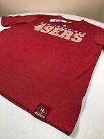 San Francisco 49ers Shirt Mens Medium NFL Team Apparel Red Short Sleeve Tee