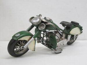 Motorrad / Retro Bike Indian grün, ohne OVP, Hersteller unbek. Blech, 29 cm lang