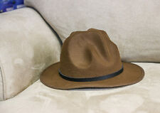 Mountie Hat Genuine Buffalo Leather Band Wool Top Hat Premium Quality Party on!