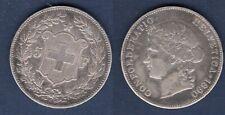 Suisse 5 Francs 1890 B Bern Argent TB + - Swiss Helvetia