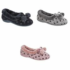 Scuffs Spotted Textile Slippers for Women