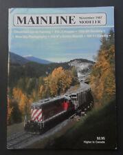 Mainline Modeler Magazine-November 1987-Near Fine-Trains-Railway-Locomotives