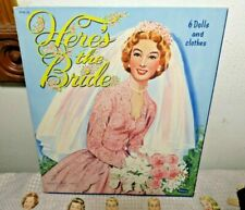 Vintage WHITMAN 1953 Here's the Bride Paper Dolls Book 6 Dolls Plus Outfits