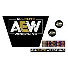 WWF/WWE Mattel Retro AEW Logo Custom Ring Sticker Set All Elite Wrestling