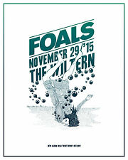 Foals 2015 Los Angeles Concert Tour Poster - Indie/Alternative/Art Rock Music