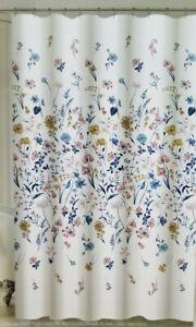 """Envogue Wild Flower 100% Cotton Fabric Shower Curtain 72"""" x 72"""" NIP"""