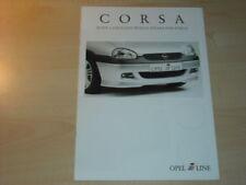21399) Opel Corsa B iLine Irmscher engl.  Prospekt 2000