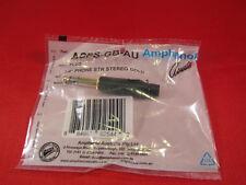 "AMPHENOL ACPS-GB-AU 1/4"" TRS BALANCED / STEREO AUDIO PHONE CONNECTORS, 10 PACK"