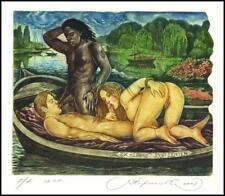 Kirnitskiy Sergey 2003 Exlibris C4 Erotic Erotik Nude Woman Ship 76