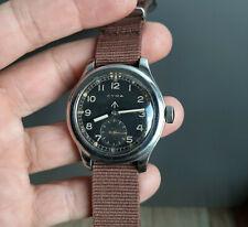 Vintage Cyma WWW Dirty Dozen British Army Military Steel Wristwatch 1945 WWII