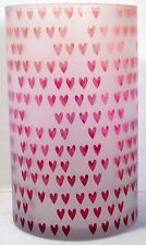 Yankee Candle Large Jar Holder Dreaming of Love Valentine's Day Heart Pinks Reds