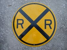 "railroad crossing sign round 12"" Yellow & Black"