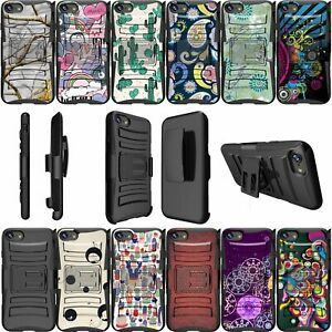 For Apple iPhone 8 | iPhone 8 Dual Bumper Kickstand & Holster Case - Patterns