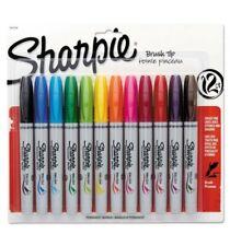 Sharpie Brush Tip Permanent Marker 12 Colors