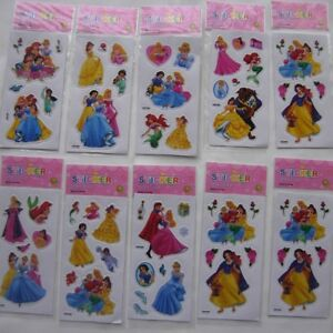 Princess 10 Sheets Stickers Scrapbooking Fitter Filler Children Party Loot Bags