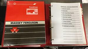 MF Massey Ferguson 7200 Series Combine Training Guide/Manual 2 Books