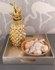 Large Gold Ceramic Modern Pineapple Cookie Jar Ornament Home Decor size 32cm