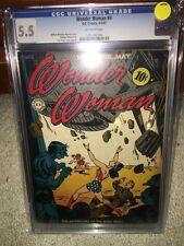 Wonder Woman #4 CGC 5.5 DC 1943 JLA! Batman! Superman! E10 126 1 cm clean