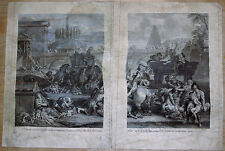 Alexis I LOIR (1640-1713) Le MASSACRE des INNOCENTS, 2 GRAVURES XVIIè C. LE BRUN