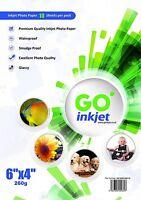 10 Feuilles 6x4 260g/m² Photo Brillant Papier pour Imprimantes À Jet D'encre par
