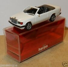 MICRO HERPA HO 1/87 MERCEDES BENZ 300 CE CABRIOLET BLANCHE IN BOX