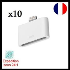 x10 Adaptateur 30 broches vers 8 broches  Blanc IPhone 4/4s vers iPhone 5/5C/5S