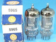 GE 5965 12AV7 CLEAR TOP VACUUM TUBE MATCH PAIR 1956 COPPER SUPER SWEET TONE G45