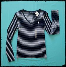 Polo Ralph Lauren Striped Long Sleeve Tshirts NWT Navy size S